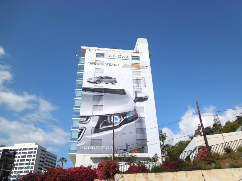 Giant Chevrolet Volt billboard Andaz Hotel