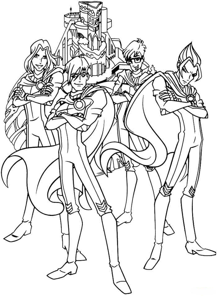 Kids Under 7: Winx Club Coloring pages