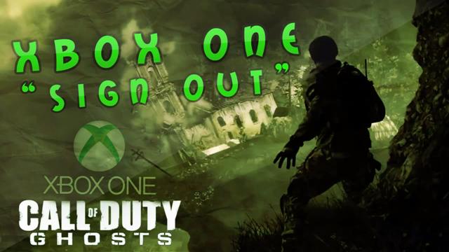 O que acontece quando alguém joga o multiplayer de Call of Duty: Ghosts (XBO) com a gamertag Xbox Sign Out? Xboxonesignout