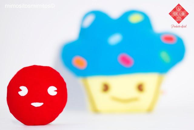 evento picnicalling cojín cupcake de tela titubear