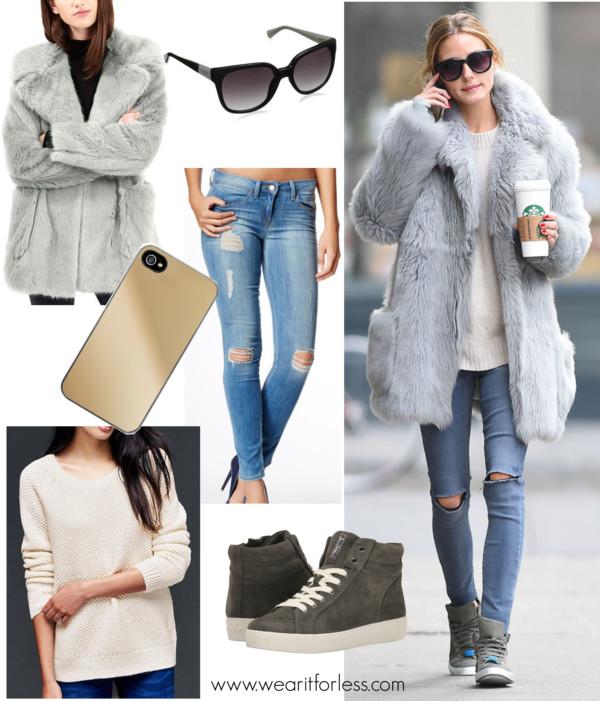 Olivia Palermo in Brooklyn, January 2016, celebrity street style, celebrity wearing a fur coat, NYC