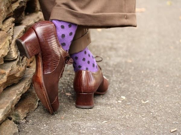 Vintage 40s Oxfords in Suede & Lizard #vintage #oxford #shoes #brown #1940s