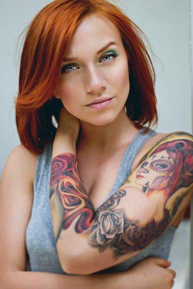Tatuaje de Catrina para Mujer