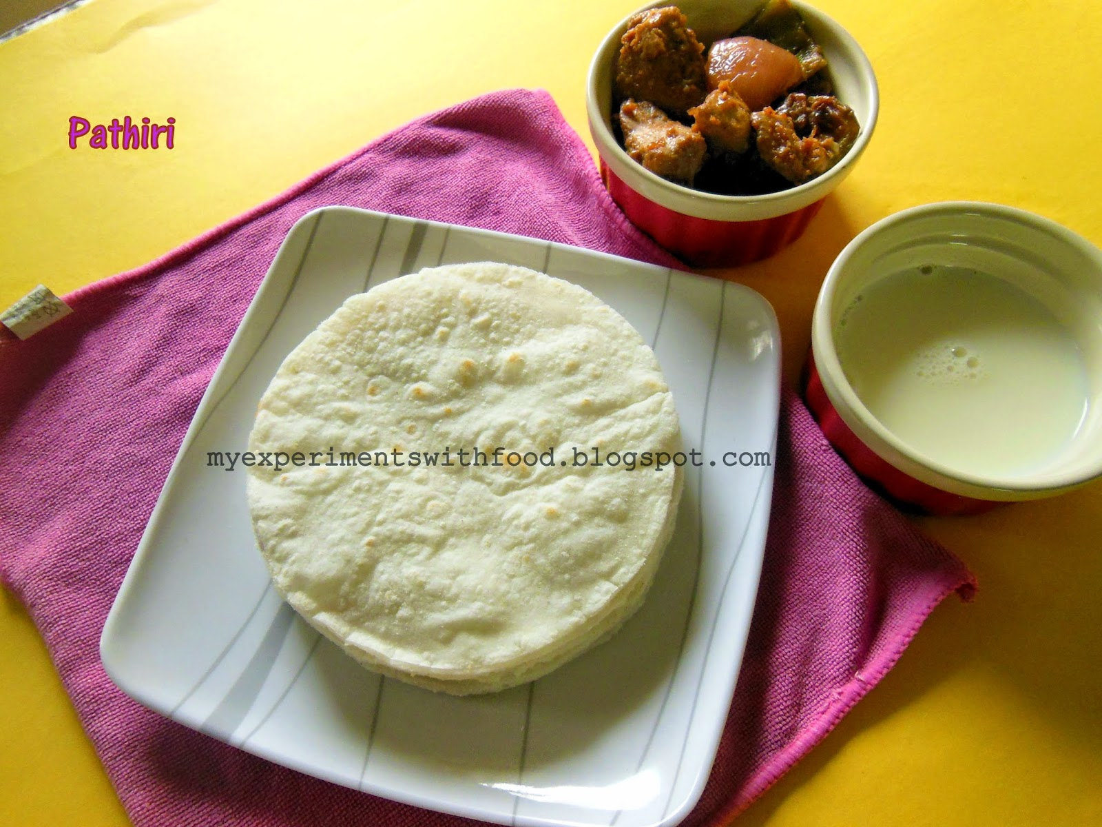 Pathiri / Soft Rice Flat Bread