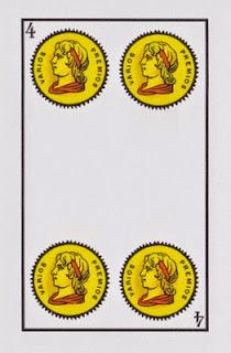 cuatro de oros baraja española