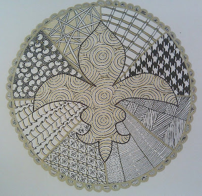 mandala, zentangle, zendoodle