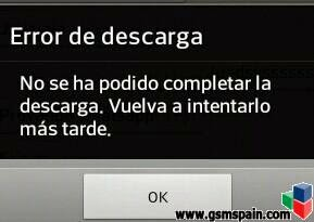 error descargando whatsapp