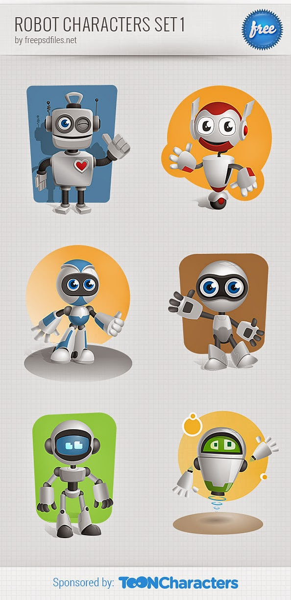 One wheeled robot; Flying robot; Classic robot; Baby robot; Vintage robot; High-tech robot. robot radio free psd file rar file cdr.