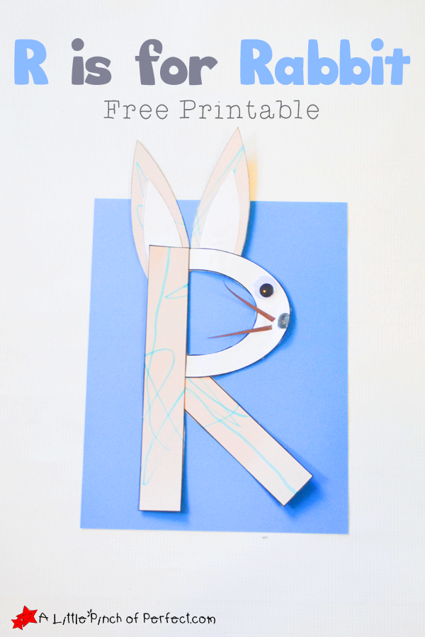 R Is For Rabbit Letter of the Week A-Z...