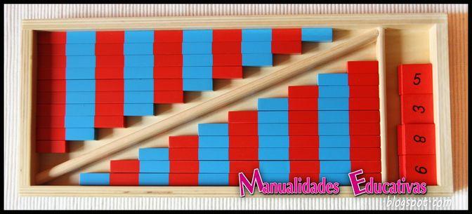 barras numericas pequeas montessori con material imprimible