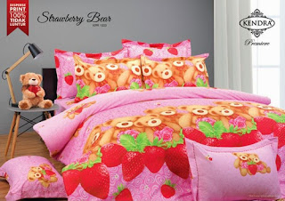 Sprei Kendra Premier Strawberry Bear Pink