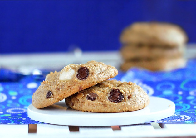 Soft Chocolate Chip Macadamia Nut Cookies by Chocolate Covered Katie