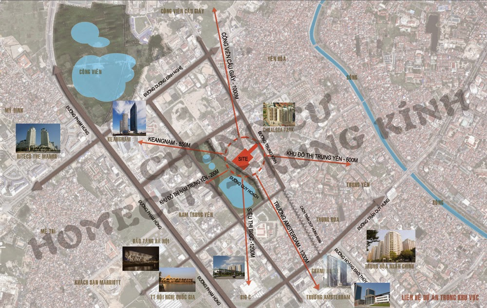 Liên kết vùng dự án Home City Trung Kính
