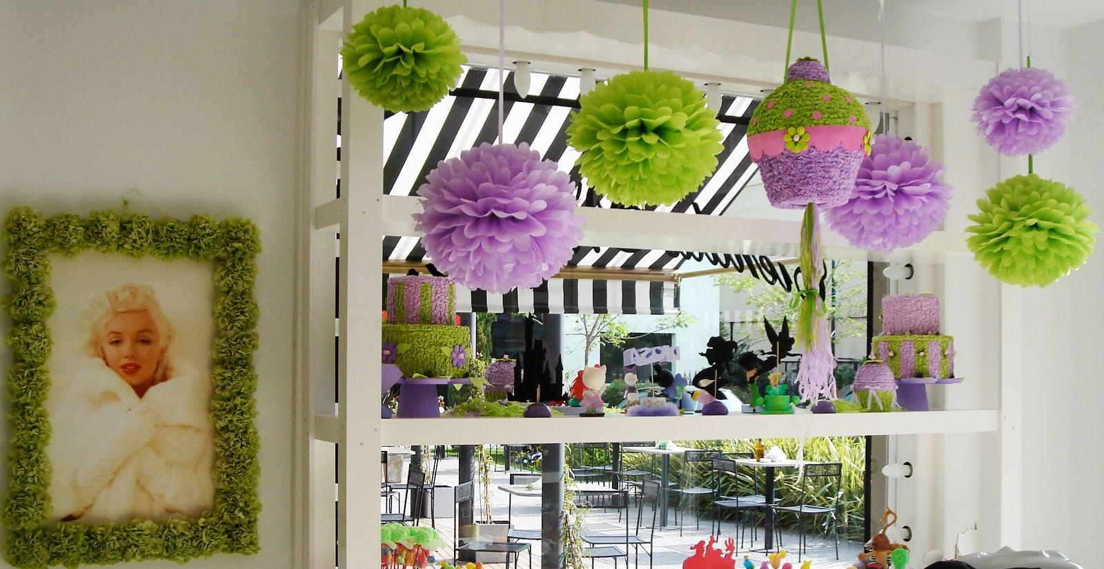 Puerta al sur flores de papel para decorar ambientes y - Adornos para un cumpleanos ...