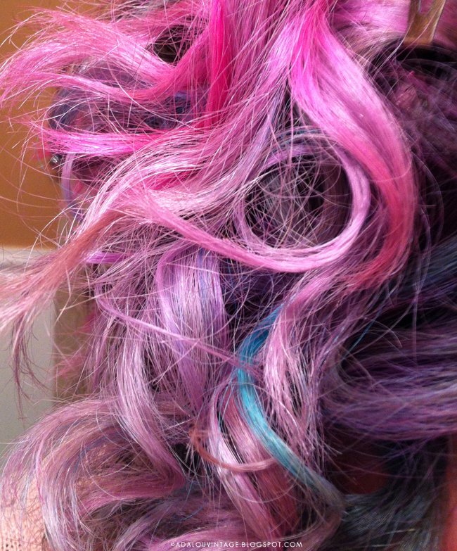 Cotton Candy Blue Hair: AdaLou {the Blog}: WHAT I WORE : COTTON CANDY HAIR