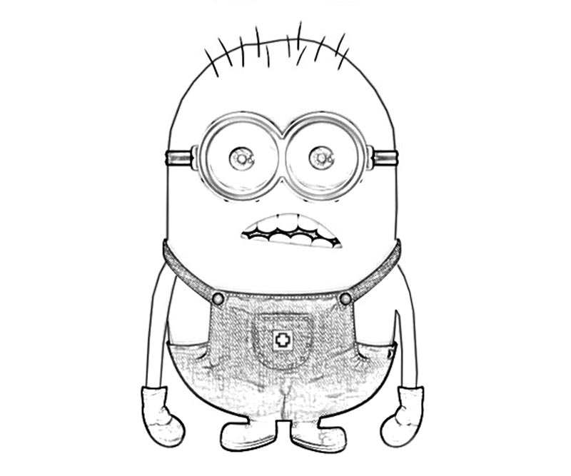 #7 Despicable Me 2 Coloring Page