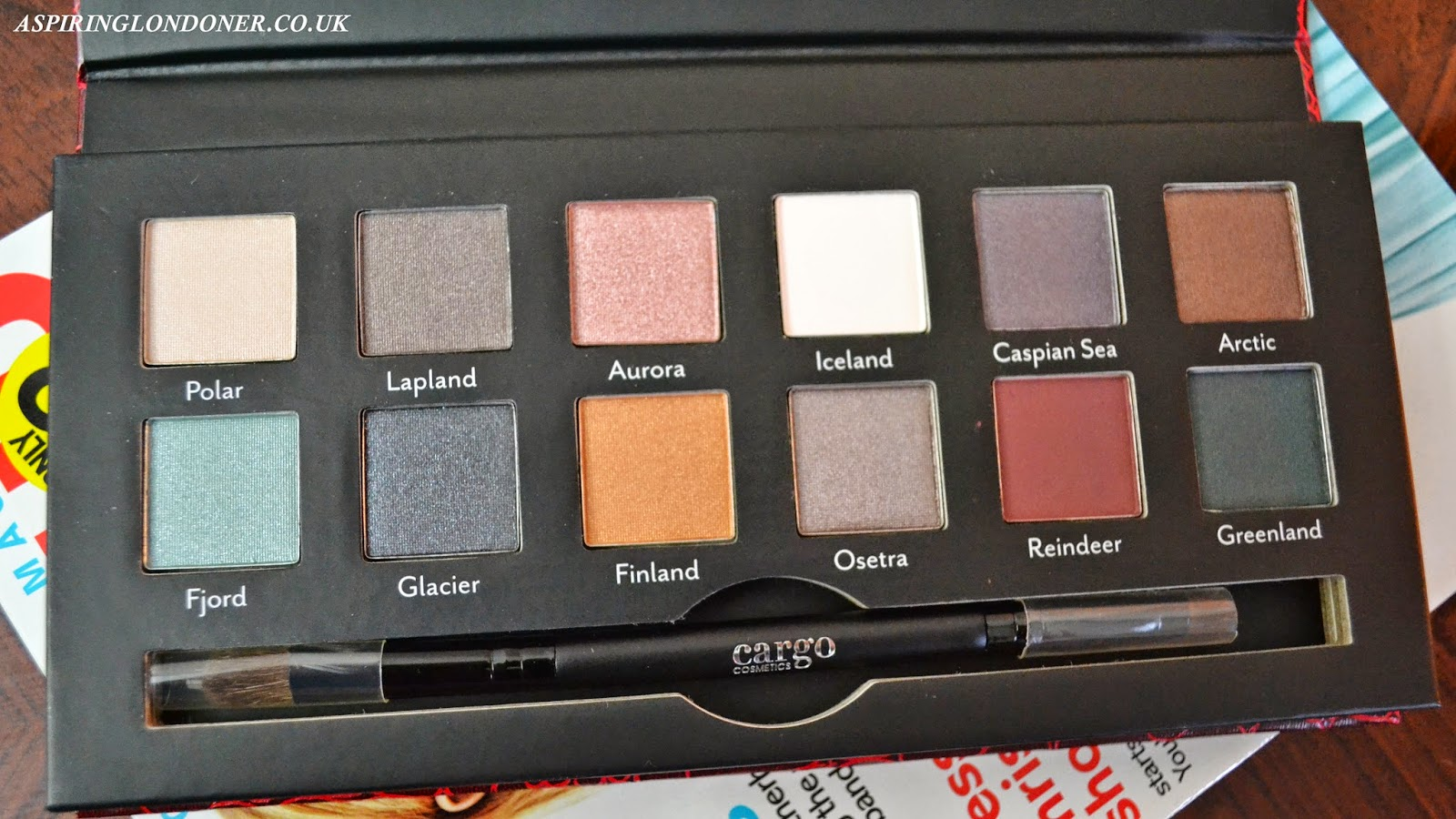 Cargo Cosmetics Northern Lights Eyeshadow Palette Review - Aspiring Londoner