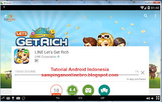 Cara Bermain LINE Let's Get Rich Di Komputer download get rich