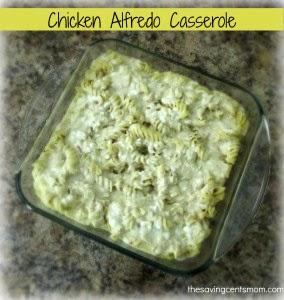 Chicken Alfredo Casserole Recipe