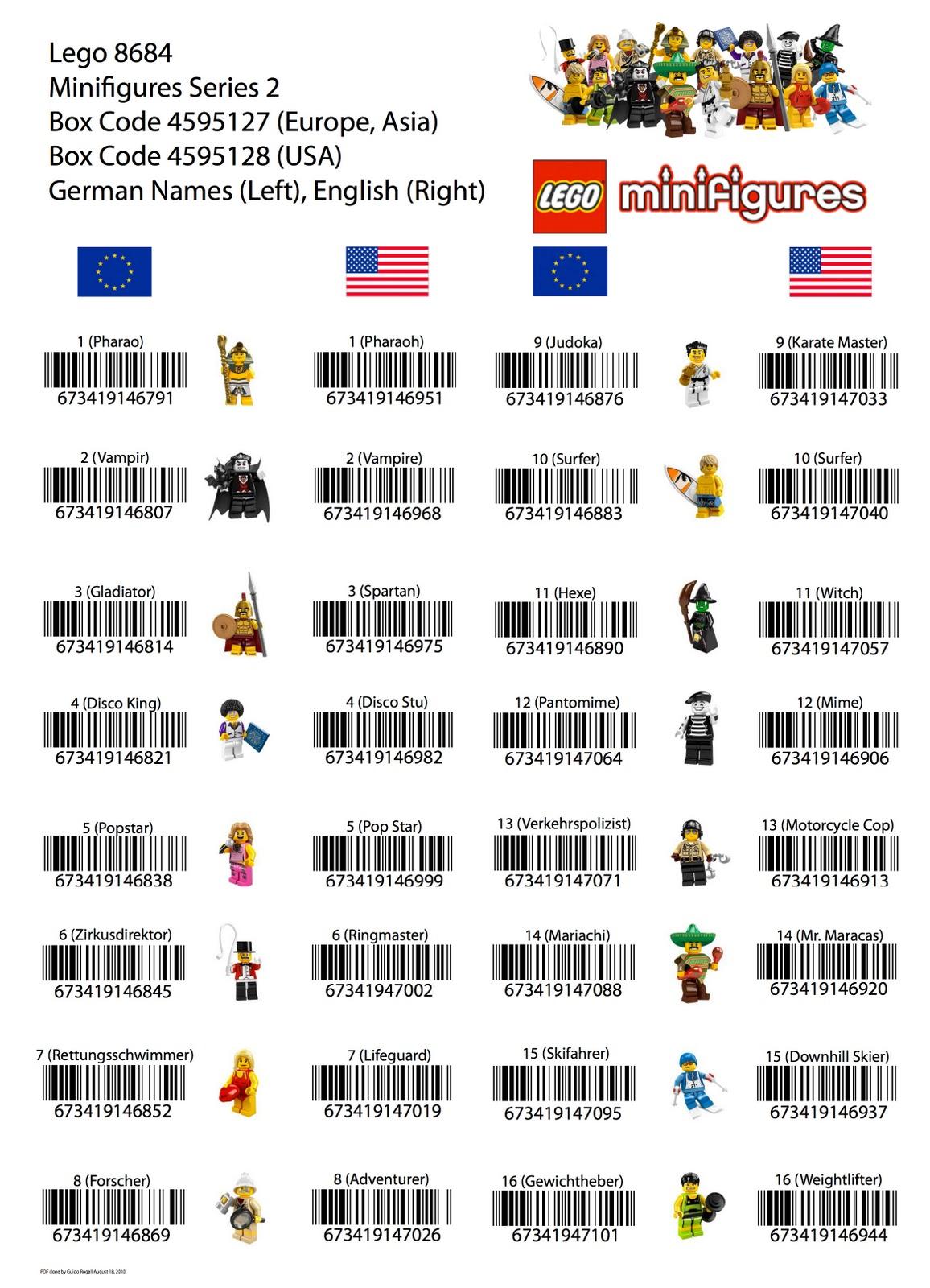 bump code autos weblog toyriffic lego minifigures series 10 bump codes