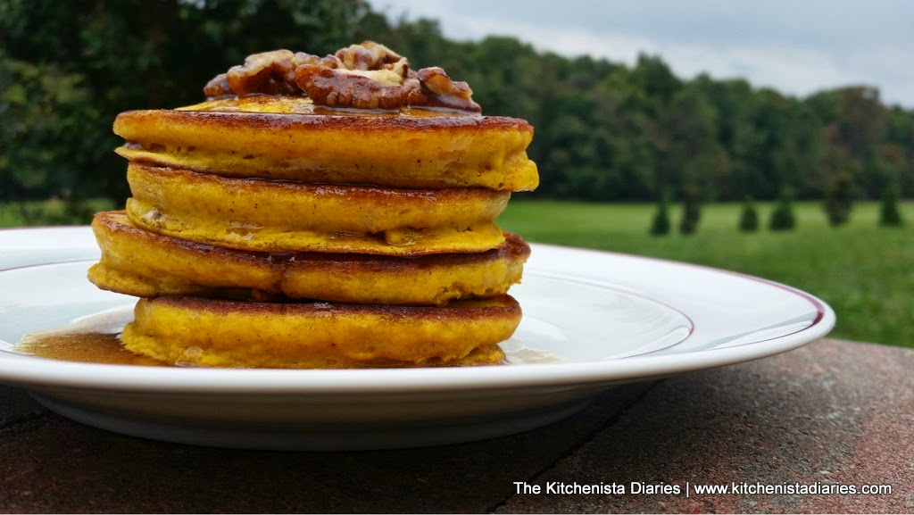 Buttermilk Pumpkin Pancakes & Pecan Spiced Maple Syrup - The ...