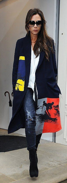 Sete dias sete looks de Victoria Beckham, street style, fashion street, moda de rua