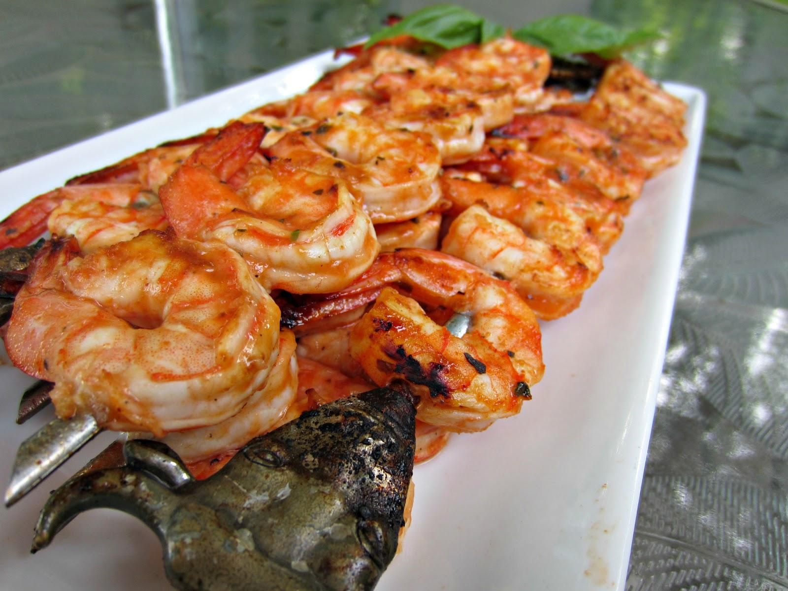 My Kitchen Adventures: Marinated Grilled Shrimp Skewers