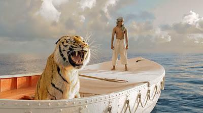 """Seekor harimau bengali nyaris tenggelam dalam pembuatan film """"Life of Pi"""""""
