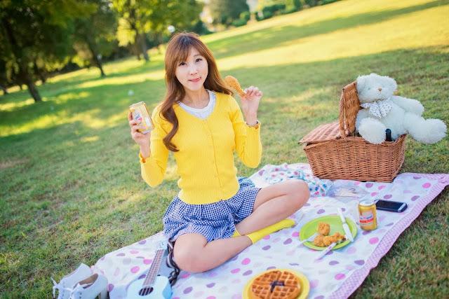 5 Lee Yoo Eun outdoor - very cute asian girl-girlcute4u.blogspot.com