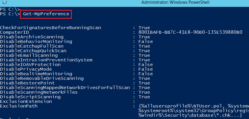 PowerShell y Windows Defender en Windows Server 2015 Technical Preview