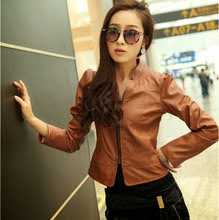 Images For Light Brown Leather Jackets For Women