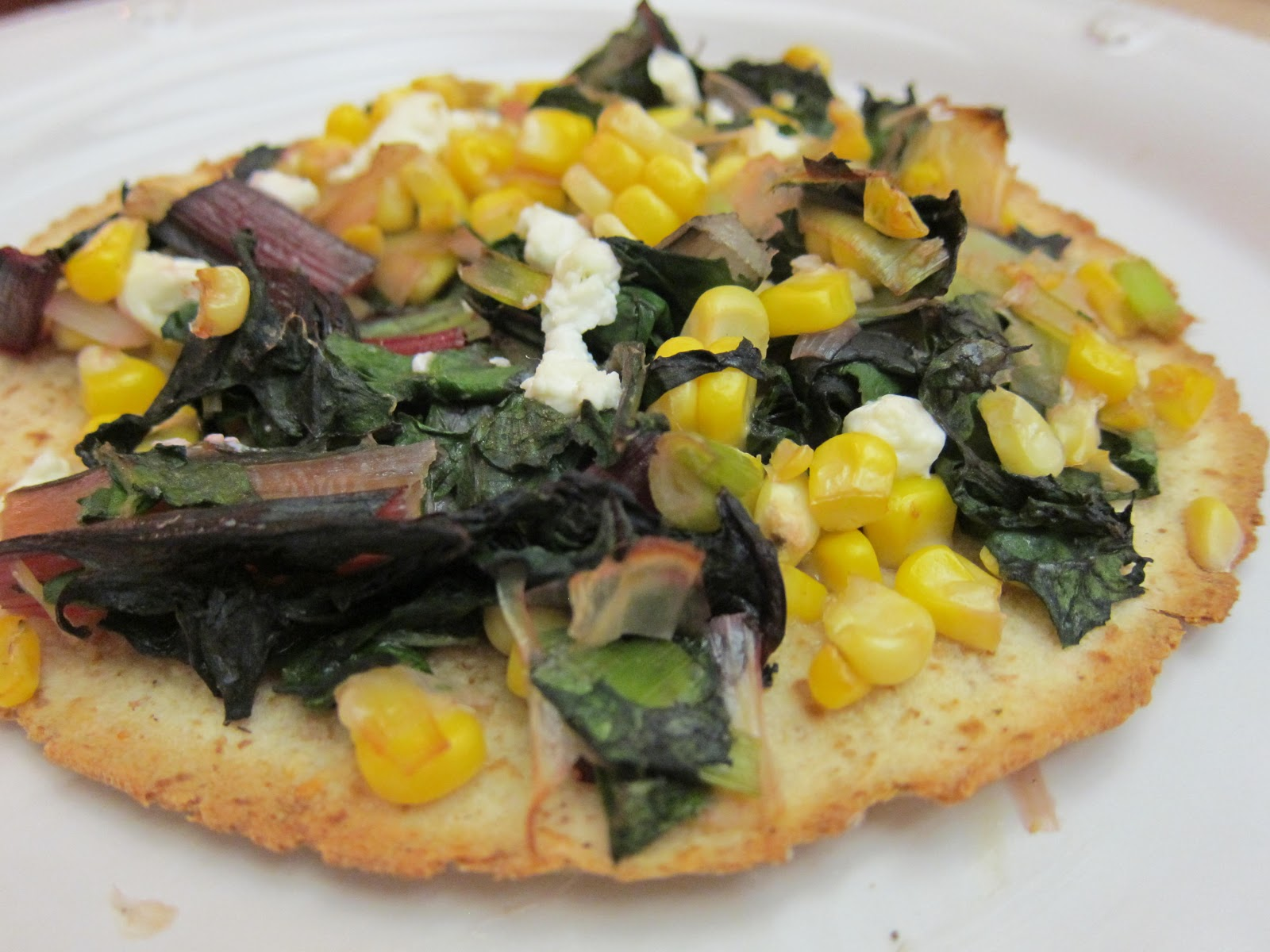 ... Gourmet: Recipe (Re)creation: Chard, Leek, Corn + Manchego Flatbread