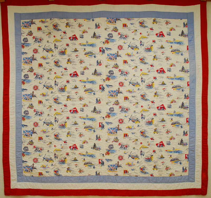 Quilts vintage and antique kent cloth of the united nations for What to do with an old quilt