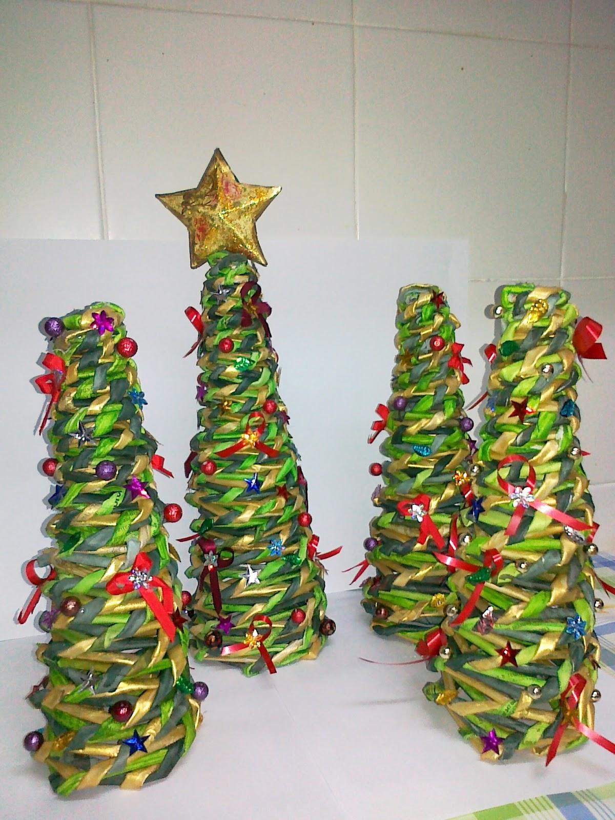 Manoli y sus manualidades adornos de navidad los - Manualidades navidad papel ...