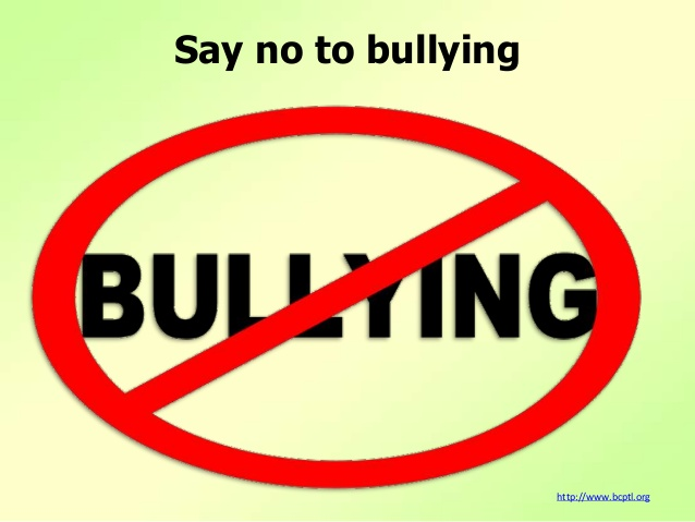 say no to bullying This say no to bullying poster is specifically designed for schools underneath the picture - which we think will grab children's attention, we have the words what to do if you are being bullied or see bullying: and we've left space for you to write in your school contact or school policy.