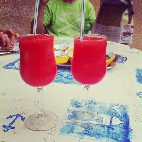 A fresh watermelon cocktail