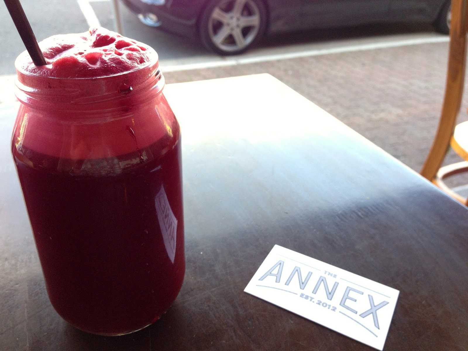 Beetroot, something and something juice - The Annex Cafe, Glenelg