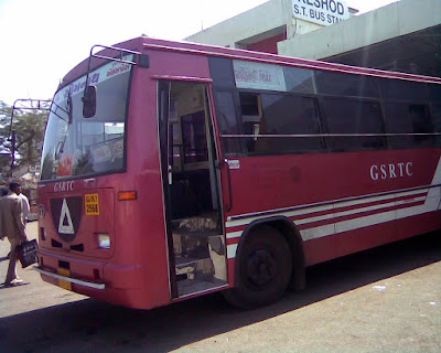 GSRTC buses from ahmedabad