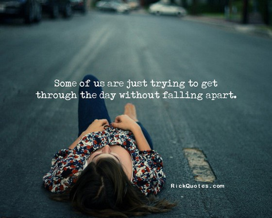 life falling apart quotes