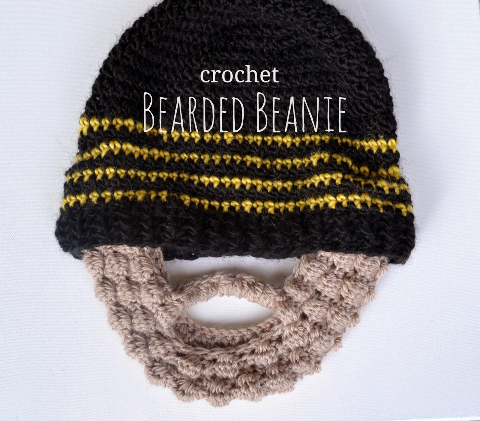 Granny Square Flair: Crochet Beard Beanie
