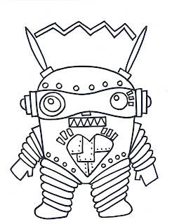robot monster coloring pages - photo#9