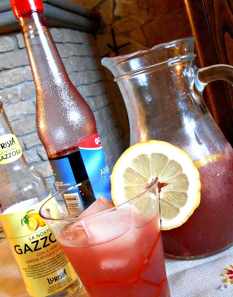 cocktail analcolico gazzosa e amarena
