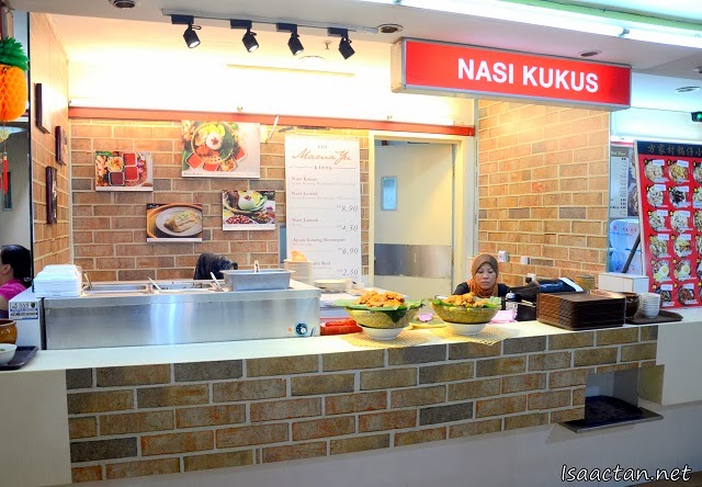 The Nasi Kukus Mama Yu lot inside Oasis Food Court in Midvalley Megamall