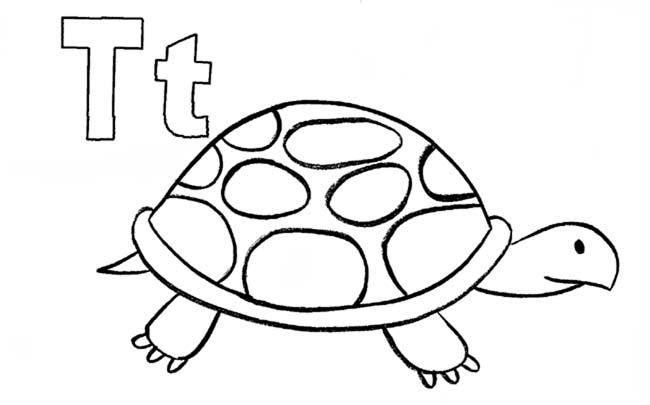 Coloring Pages For Letter T