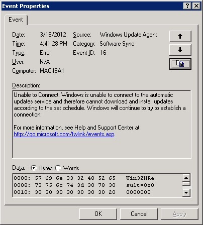 Event id 16 software sync windows update agent install new cpu without reinstalling windows