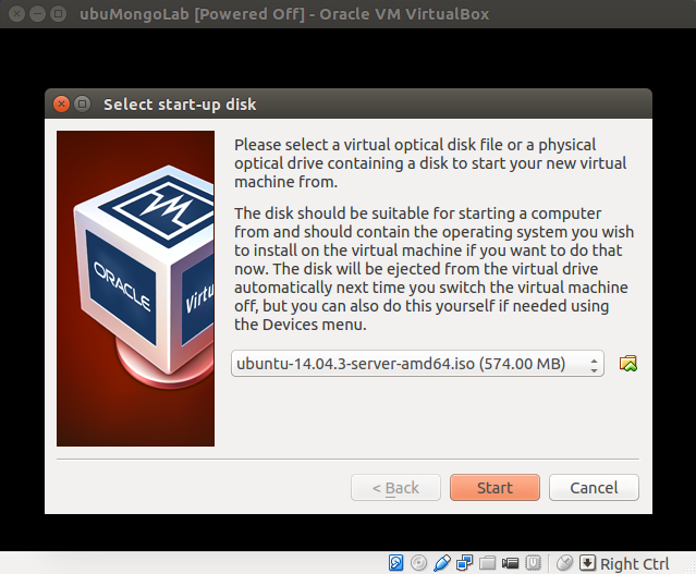 how to connect to server in virtualbox ubuntu