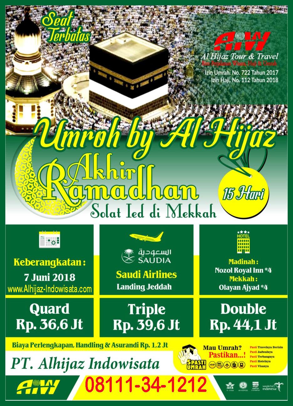 Umroh Akhir Ramadhan Tgl 7 Juni