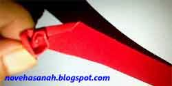 langkah cara membuat bunga mawar dari kertas 4
