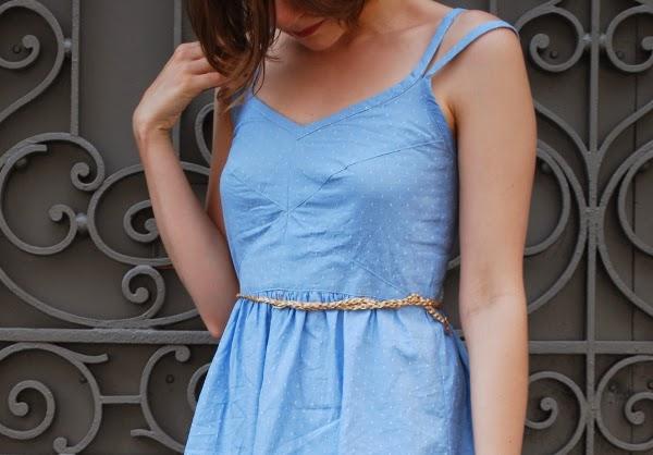 Moun - robe centaurée - détails encolure