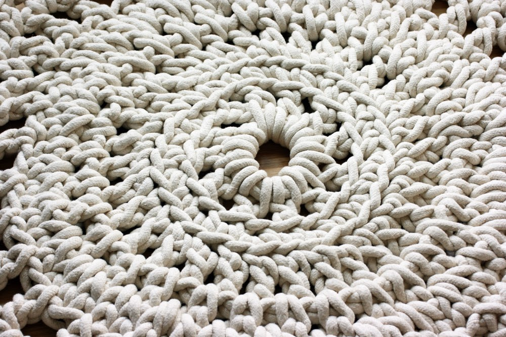 Crocheting Rope : DIY Crochet Rope Doily Rug - Esther at Whollykao.com